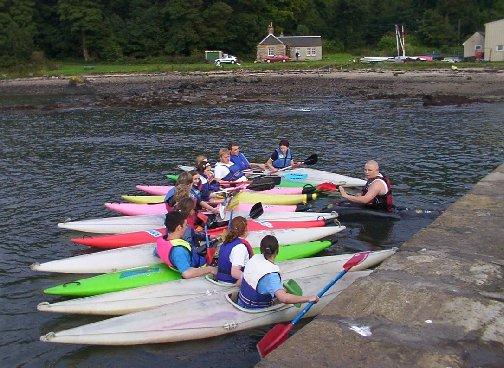 Rafted Kayaks