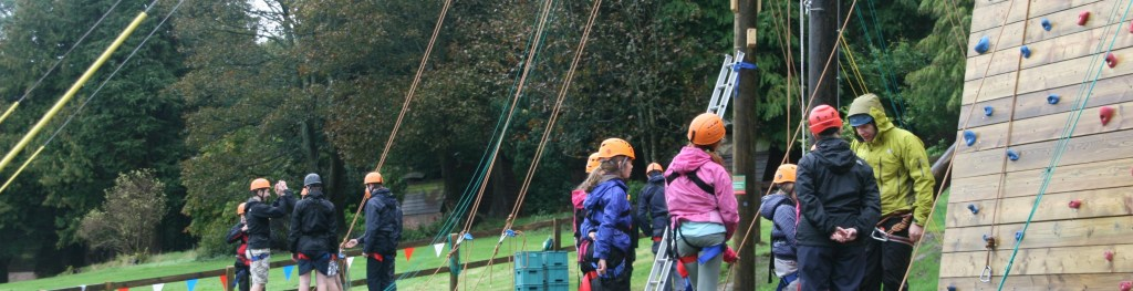 High ropes course at Bonaly