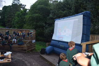 Braid Cubs enjoying Cartoons at their District Camp