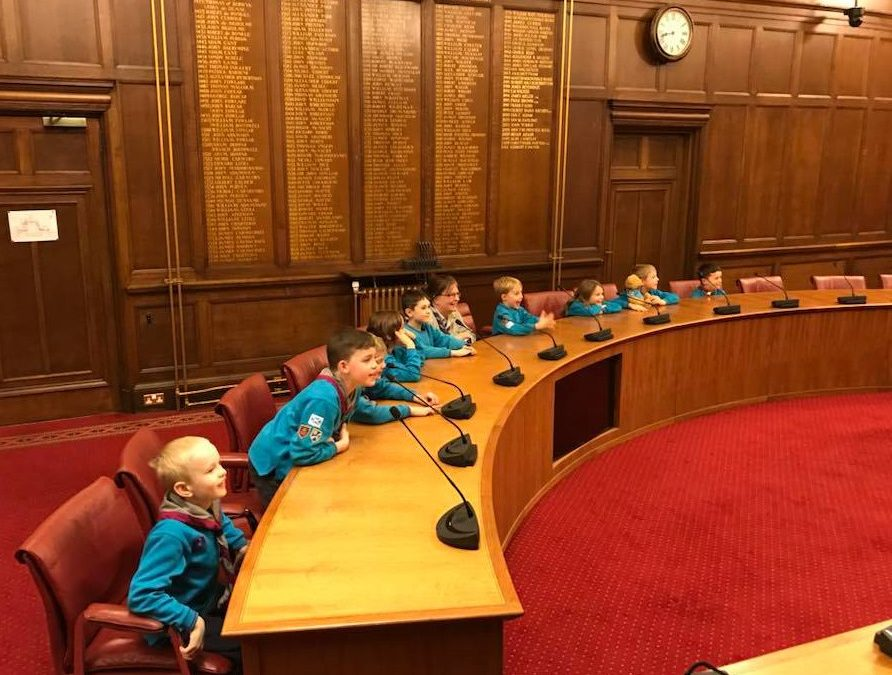 Beavers at City Chambers
