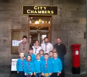 Craigalmond Beavers visit the City Chambers