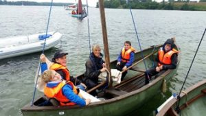 Group in boat