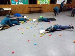 Scouts play Hungry Hippos