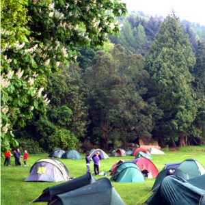 Hike tents at Bonaly in the Spring