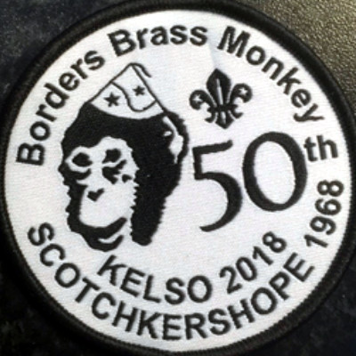 Borders Brass Monkey badge