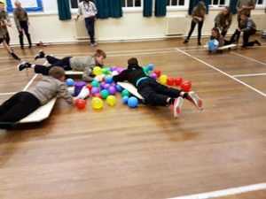Explorers playing Hungry Hippos